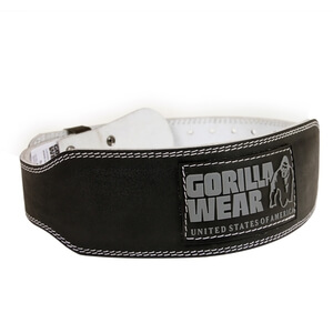 4 Inch Padded Leather Belt, black, Gorilla Wear