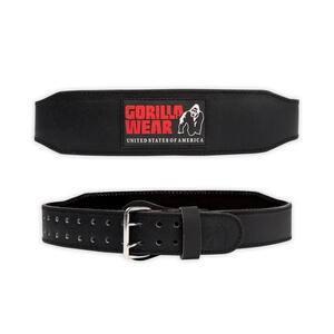 4 Inch Padded Leather Belt, black/red, Gorilla Wear