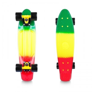 Kolla in Pennyboard Sunbow 22, green/yellow/red, Worker hos SportGymButiken.se