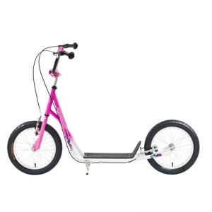Sparkcykel Scooter City, vit/rosa, Worker