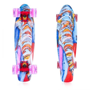 Fish Skateboards Pennyboard Elephant 22, red, ArtFish Pennyboard