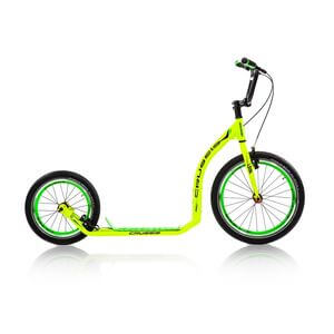 Sparkcykel Active 4.1, yellow/green, Crussis
