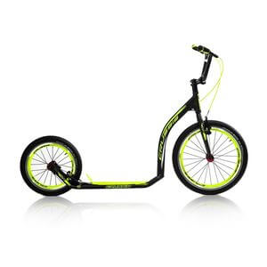 Sparkcykel Active 4.4, black/yellow, Crussis
