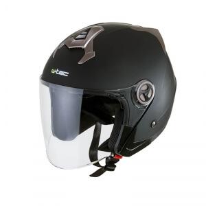 Motorcykelhjälm YM-623, matte black, W-TEC