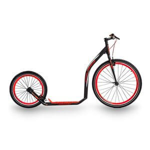 Sparkcykel Urban 4.3, black/red, Crussis