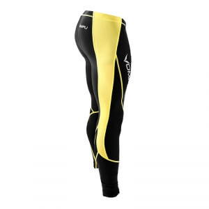 Multisport Compression Tights, black/yellow, OMPU i gruppen Kläder / Herr / Byxor / Kompression hos Sportgymbutiken.se (OMP-125661r)