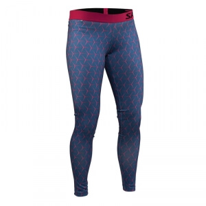 Run Flow Tights Women, hexagone illusion AOP, Salming Sports