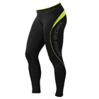 Fitness Long Tights, black/lime, Better Bodies
