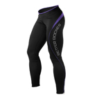 Fitness Long Tights, black/purple, Better Bodies