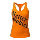 Printed T-back, bright orange, Better Bodies