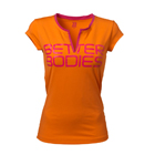 Fitness V-Tee, bright orange, Better Bodies