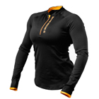 Zipped Long Sleeve, black/orange, Better Bodies