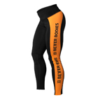 Side Panel Tights, black/orange, Better Bodies