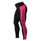 Side Panel Tights, black/pink, Better Bodies