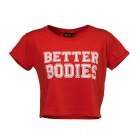 Cropped Tee, tomato red, Better Bodies