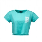 Cropped Tee, light aqua, Better Bodies