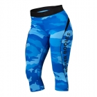 Fitness Curve Capri, blue camo, Better Bodies