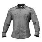 BB Mens Flex Shirt, grey/white, Better Bodies
