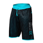 BB Print Mesh Shorts, black/aqua, Better Bodies