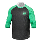 Men's Baseball Tee, green/antracite melange, Better Bodies