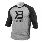 Men's Baseball Tee, grey melange/antracite melange, Better Bodies