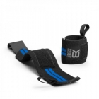 Elastic Wrist Wraps, black/blue, Better Bodies