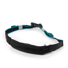 Zip Belt, black/aqua, Better Bodies