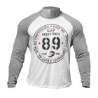 Raglan Long Sleeve Tee, white/grey melange, GASP