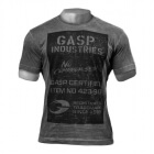 Broad Street Print Tee, wash black, GASP