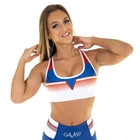 Grand Slam Sports Bra, blue/white, Gavelo