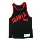 Stamina Rib TankTop, black/red, Gorilla Wear