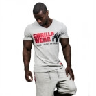 Utah V-Neck Tee, grey, Gorilla Wear