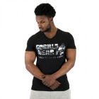 Sacramento V-Neck T-Shirt, black/white, Gorilla Wear