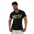 Sacramento V-Neck T-Shirt, black/lime, Gorilla Wear