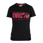 Sacramento V-Neck T-Shirt, black/red, Gorilla Wear