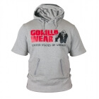 Boston Short Sleeve Hoodie, grå, Gorilla Wear
