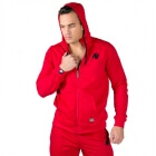 Classic Zipped Hoodie, red, Gorilla Wear