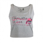 Oakland Crop Tank, grey/pink camo, Gorilla Wear