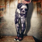 Lost City Tights, black/white, Yakuza