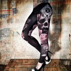 Deadly Rose Tights, black, Yakuza