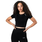 Define Seamless Cropped T-shirt, black, ICANIWILL