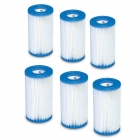 Poolfilter A, 6-Pack, Intex