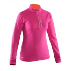 Run Halfzip LS Women, pink glo, Salming Sports
