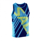 Run Race Singlet Men, cyan/navy, Salming Sports