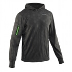 Run Hexagon Hood Men, magnet grey, Salming Sports