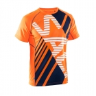 Running Tee Men, shocking orange/navy, Salming Sports