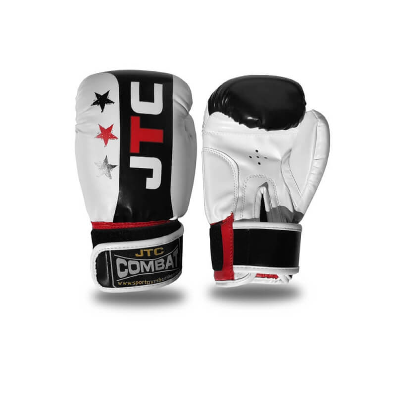 Boxhandske Junior, vit/svart, JTC Combat
