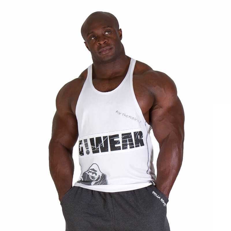 Ku00f6p G!WEAR Stringer Tank Top white Gorilla Wear online ...