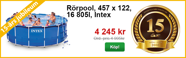 Rörpool, 457 x 122, Intex | 15-års kampanj | Sportgymbutiken.se