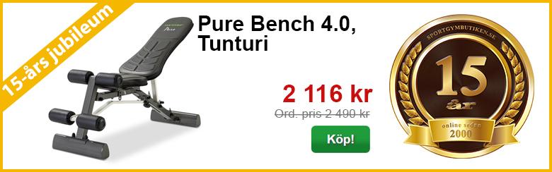 Pure Bench 4.0, Tunturi | 15-års kampanj | Sportgymbutiken.se